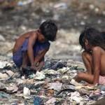 Chidren at landfill