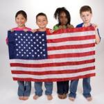 children with flag