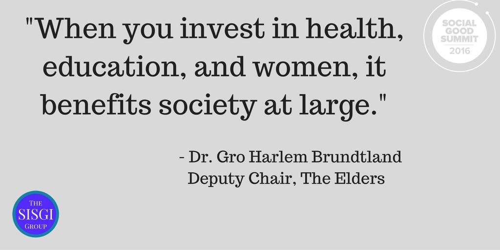 Dr. Gro Brundtland