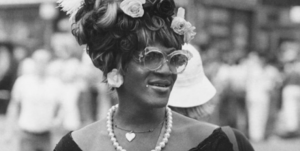 Picture of Marsha P. Johnson a Black trans woman and central leader in the gay liberation movement.